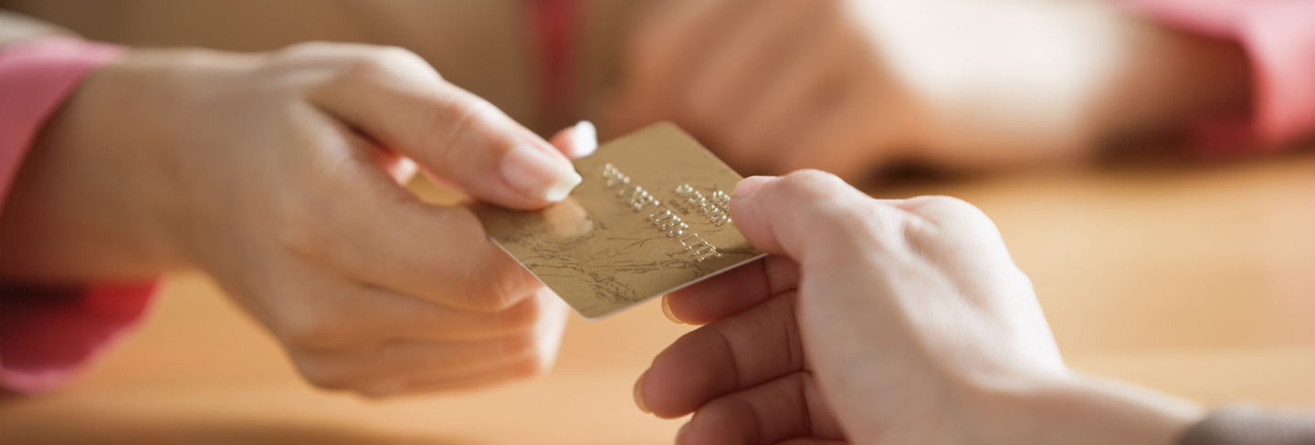credit card handed over