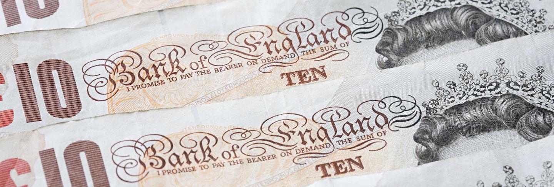 Ten pound notes