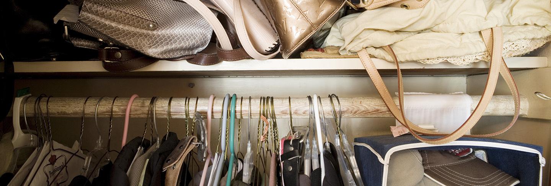 Cluttered wardrobe