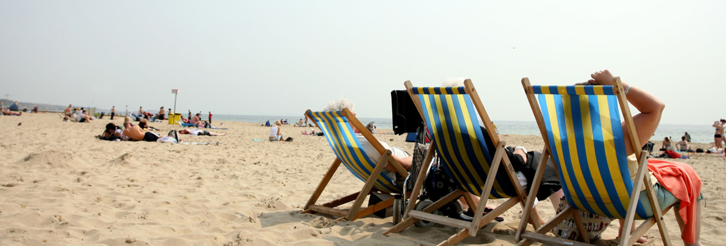Holiday deckchairs