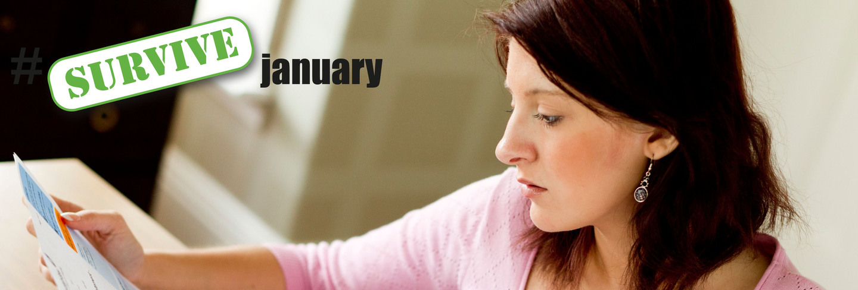 Woman checking energy bill