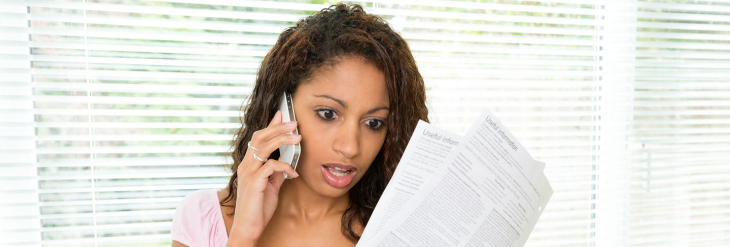 Woman shocked at phone bill